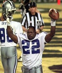 EMMITT SMITH 8X10 PHOTO DALLAS COWBOYS PICTURE NFL FOOTBALL VICTORY