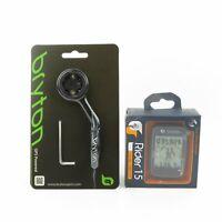 Bryton Rider 15E GPS Bike Bicycle Bluetooth Wireless Computer & Extension Mount