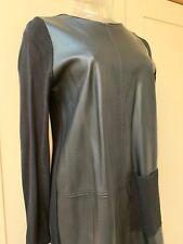 Zara Knit Faux Leather Panel Mini Dress/Tunic Top Size Small