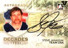 10-11 itg decades 80s steve janaszak team united states autograph auto