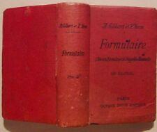 A. GILBERT P. YVON FORMULAIRE 1907 ( Ancien formulaire DUJARDIN-BEAUMETZ )
