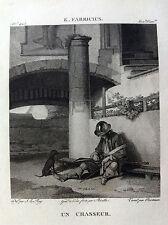 UN CACCIATORE  K. Fabricius - Galerie du musée Napoléon J.  Lavallée 1804-1815
