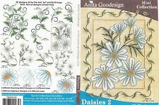 Anita Goodesign Daisies 2 Embroidery Machine Design CD NEW 75MAGHD