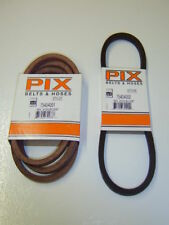 Set of 2 Pix Vari-Drive Belts, 954-04001 and 954-04002
