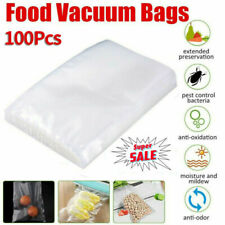 Food Storage Bags Vacuum Sealer Package Pouches Home Snack Vegetable Saver 100pc
