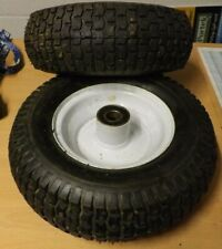 2 x Ride on mower Wheels & tyres 13 x 5.00-6 with bearings