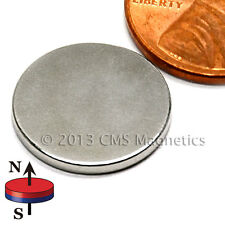 "50 Count N45 Neodymium Magnets Dia 5/8x1/16"" With 3M Adhesive on North"