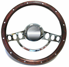 1980 1981 1982 Chevy C-Series Suburban Blazer Chrome & Wood Steering Wheel Kit