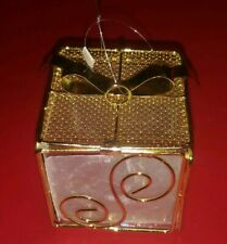 Present Shaped Christmas Ornament Christmas Gift Box With Bow