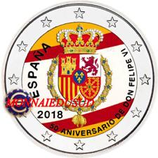 2 Euro Commémorative Espagne 2018 en Couleur Type A - Roi Phelipe VI