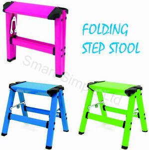 Step Up Stool Aluminium 1 Hop Fold Away Folding Lightweight Platform Ladder DIY