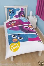 Furby Furbish Reversible Single Duvet Set Cover Character World Machine washable