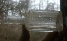 Sperm Sewing Machine Oil Emb 1880s Dug Sperm Whale Oil Bottle For Guns Etc