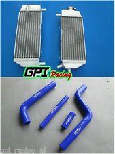 for YAMAHA YZ125 YZ 125 2005-2013 06 07 08 09 Aluminum Radiator +BLUE hose