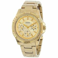 NEW GUESS Women's U0235L5 Dynamic Feminine Mid-Size Multi Function Gold-Tone