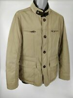 MENS GUTTERIDGE BEIGE TAN KHAKI ZIP UP PADDED COAT JACKET SIZE 48