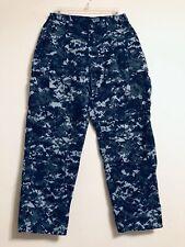 U.S. Navy Uniform Trousers Blue Digital Camo Size Waist 30to34 Inseam 26.5