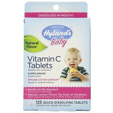 Hyland's Baby Vitamin C Quick Dissolving Tablets, Natural Lemon 125 ea