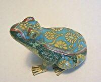 Rare Vintage Chinese Cloisonne Enamel Lucky Frog Figurine Winterthur Museum Shop