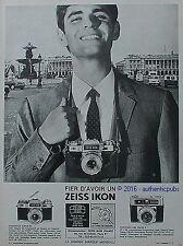 PUBLICITE ZEISS IKON CONTAFLEX SUPER CONTESSA APPAREIL PHOTO DE 1966 FRENCH AD