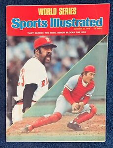 10.20.1975 JOHNNY BENCH REDS Sports Illustrated LUIS TIANT SOX WORLD SERIES