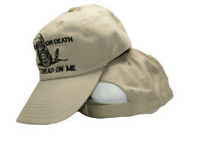Liberty or Death Culpeper Gadsden Don't Tread On Me Khaki Hat Ball Cap