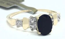 GENUINE 1.28 Cts SAPPHIRE & DIAMOND 14k Gold RING *NEW WITH TAG & FREE APPRAISAL
