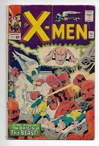 X-Men #15 1965 VG 4.0 Origin Beast