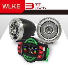 Motorcycle Marine Bluetooth Wireless BT Speakers Audio System Stereo MP3 Radio