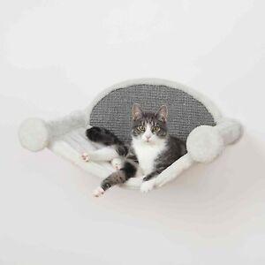 Trixie 49920 Wall Mountable Plush Cat Hammock & Scratching Pad Sisal 54x28x33cm