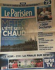 LE PARISIEN*01/6/2019*NEUF*MÉTÉO CHAUD DEVANT*DIDIER DESCHAMPS*CANCER VIVRE AVEC
