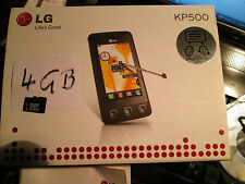 LG KP 500 OVP 4 GB touch Display simfrei grand accessoires paquet super OK Gebr 98 p