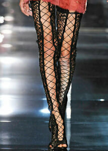 TOM FORD Lace-Up Over The Knee Boots SZ 38 = US 7.5 - 8 - NWOB