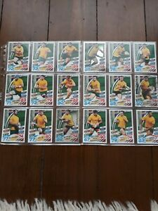 RARE TOPPS RUGBY ATTAX 2015 COMPLETE  AUSTRALIA WALLABIES TEAM 18 CARDS