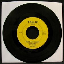 "THE BEATLES-Twist And Shout+There's A Place-Rare ""No Box"" 45-TOLLIE #9001"