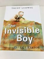 THE INVISIBLE BOY by Trudy Ludwig | Guided Reading | HARDCOVER BOOK
