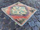 Home decor, Small rug, Doormats, Vintage rug, Turkish rug, Kitchen   2,1 x 2,4 f