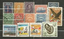 BOLIVIA, 14 VARIOUS, USED