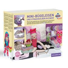 Pebaro Craft Kit Mini-Bügeleisen and Strasskolben in One with 14 Attachments