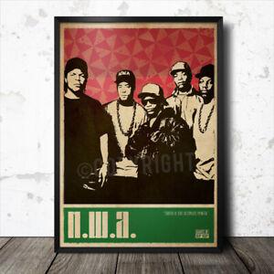 NWA Hip Hop Art Poster Rap Music Tupac Shakur Biggie Smalls Snoop Dogg Ice Cube