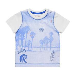 Esprit Baby Boy Blue T-Shirt Enjoy Summer Surfing Big Waves motif Size 3 month
