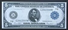 $5 SERIES OF 1914 FEDERAL RESERVE NOTE / WHITE & MELLON SIGNATURES