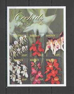 S1096 BURUNDI FLORA FLOWERS ORCHIDS OF AFRICA 1KB MNH
