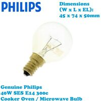 Philips Genuine 40W SES E14 300°C Cooker Oven / Microwave Bulb