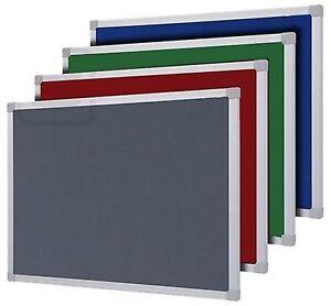 FELT NOTICE BOARD ALUMINIUM FRAME INC FIXINGS 900 x 600 1200 x 900 mm