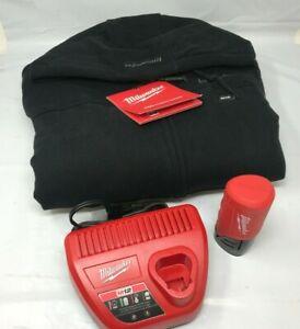 Milwaukee Men's Large 302B-21L 12-V Black Heated Hoodie Kit N