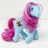 Vintage My Little Pony G1 Sparkle Princess Royal Blue Tinsel Hair Sapphire MLP