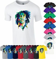 Bob Marley T Shirt Legend Ganja Reggae Rasta Weed Birthday Gift Mens Ladies Top