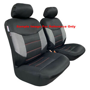 For Toyota Hilux SR SR5 Dual Cab 2009-2021 Seat Covers Front Pair Airbag Safe