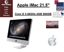 "Apple iMac 21.5"" Core i3 3.06GHz 4GB 500GB DVD WIFI ATI HD Sierra 10.12 Mid 2010"